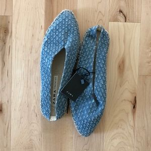 Zara clip on chambray mule
